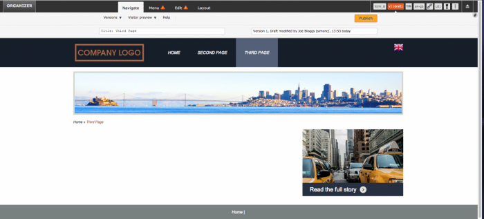 Blank web page