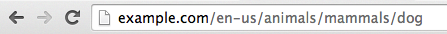 Example address bar